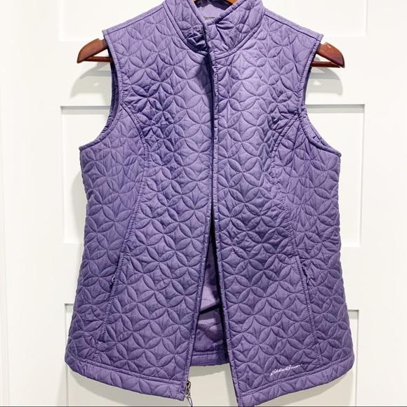 Eddie Bauer Jackets & Blazers - SOLD - EDDIE BAUER Quilted Purple Vest